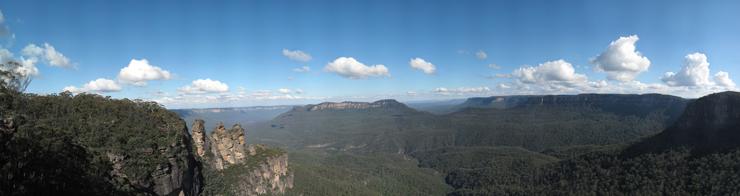 blue mountains gigapixel panorama 64807x17199 px